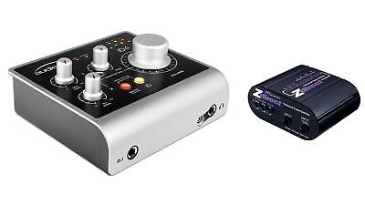 Audient ID4 USB Interface w/ ART Z Direct Passive DI Direct Box Bundle Package