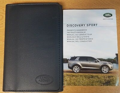 LAND ROVER DISCOVERY SPORT HANDBOOK OWNERS MANUAL WALLET+NAV 2014-2018 # E-394