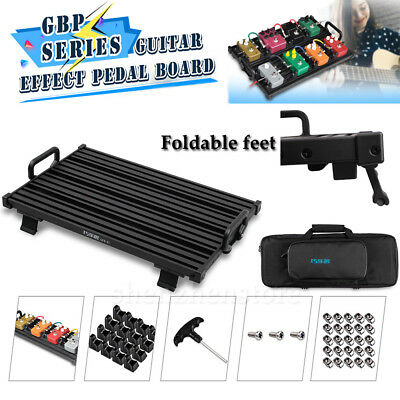 GPB-02 Portable Aluminum Alloy Pedal Board Use For Guitar Effect Pedal+Case Box