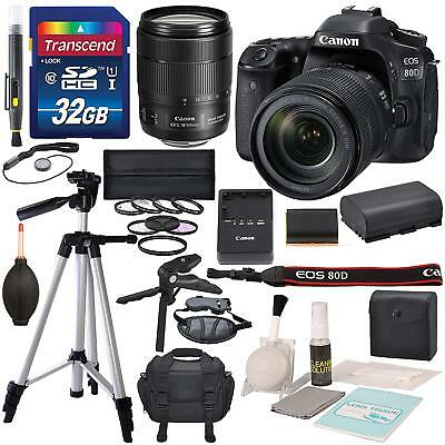 Canon EOS 80D DSLR Camera with EF-S 18-135mm f/3.5-5.6 IS USM Lens and deluxe...