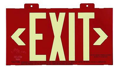 NEW Jessup S50 Glo Brite Zero Energy Self Luminous Double Sided Exit Sign 50ft