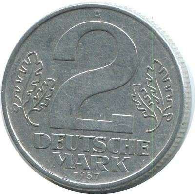2 DEUTSCHE MARK 1957 A DDR Germany @AE126.1DS