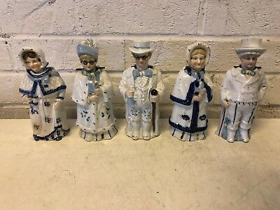Antique 19th and 20th Century Collection of 5 Porcelain Time Period Nodders