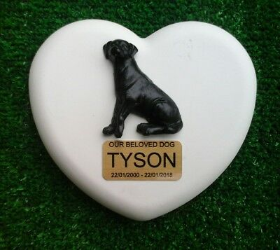 Dog Large Pet Memorial/headstone/stone/grave marker/memorial paw with plaque 13