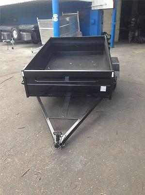 8x5 HIGH SIDE BOX TRAILER FREE 1 yr Rego,Spare & Jockey wheel