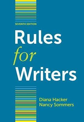 Rules for Writers with Writing about Literature (Tabbed Version) Hacker, Diana,