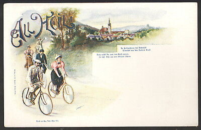 All Heil! Bicycles Austrian Undivided Back Postcard Published in Vienna