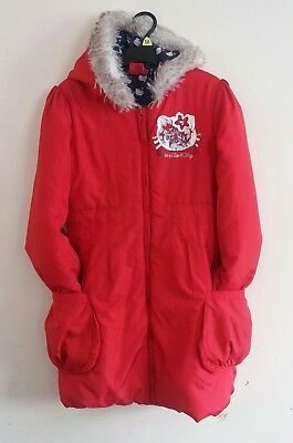 Girl's Red Hello Kitty Hooded Jacket Age 9-10