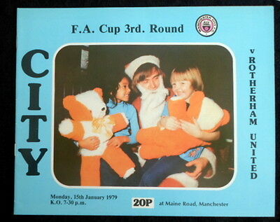 Manchester City v Rotherham United  FA Cup 3rd Round    15-1-1979   with token