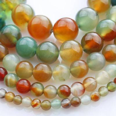4/6/8/10mm Wholesale Natural Peacock Agate Gemstone Round Spacer Loose Beads