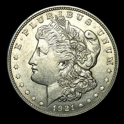 1921 D ~**ABOUT UNCIRCULATED AU**~ Silver Morgan Dollar Rare US Old Coin! #261