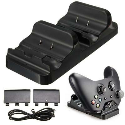 Xbox One Dual Charger Dock Charging Station 2 Rechargeable Battery Controller US