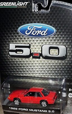 Greenlight 1988 Ford Mustang Lx 5.0 Foxbody Notchback '88 Red Lbe Exclusive 1/64
