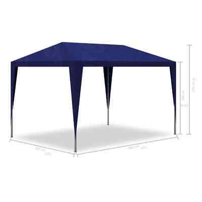 Outdoor 3x3m Party Tent Gazebo Marquee Folding Canopy Wedding White/Blue Z0M6