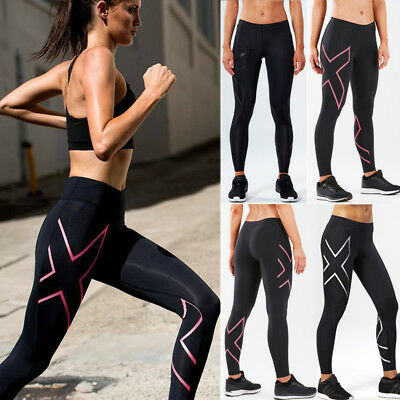 AU Women Yoga Sports Running Pants Leggings Stretch Fitness Trousers Gym Clothes