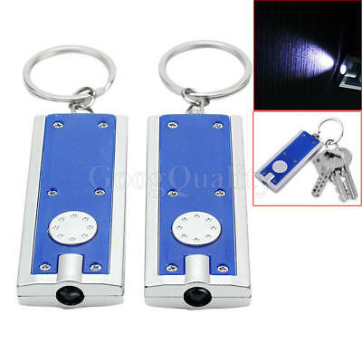 2x Outdoor Camping Hiking Accessories Keyring Keychain LED Mini Flashlight Torch
