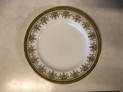 Antique Wedgwood English Porcelain Blue Enamel Decorated Plate with Gilt Trim