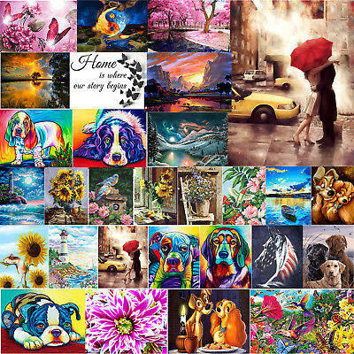 5D DIY Full Drill Diamond Painting Animal Cross Stitch Embroidery Art Xmas Gift