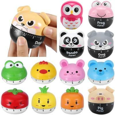 Lovely Cartoon 55 Minutes Kitchen Timer Mechanical Countdown Loud Clock Cooking