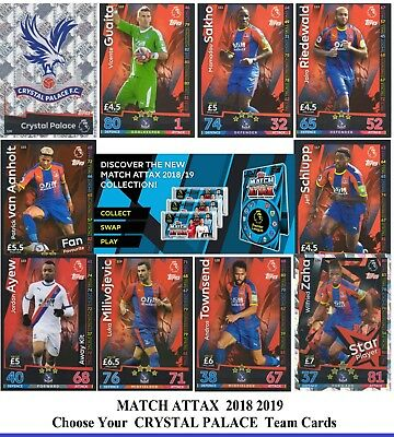 Choose MATCH ATTAX 2018 2019 Topps 18/19 CRYSTAL PALACE Star /Base Cards