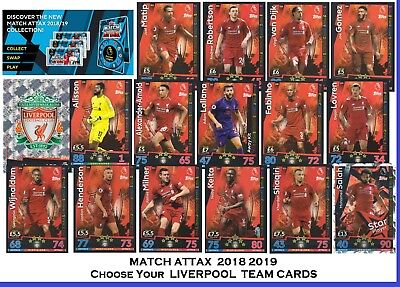 Choose MATCH ATTAX 2018 2019 Topps 18/19 LIVERPOOL Star /Base Cards