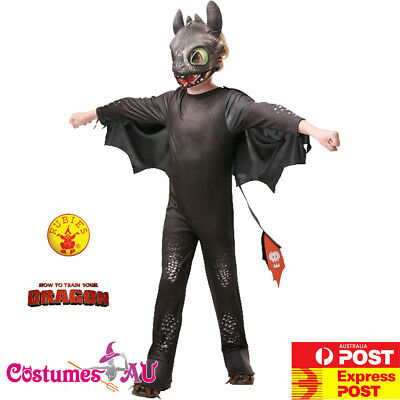New How to Train Your Dragon 3 Toothless Costume Night Fury Boys Kids Book Week