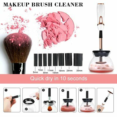 Electric Makeup Brush Cleaner Cosmetic Dryer Washing Automatic Cleanser Tool Set