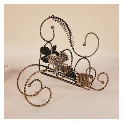 Elegant Vintage Metal Wine Rack Bottle Holders Storage Home Kitchen Decors Gifts