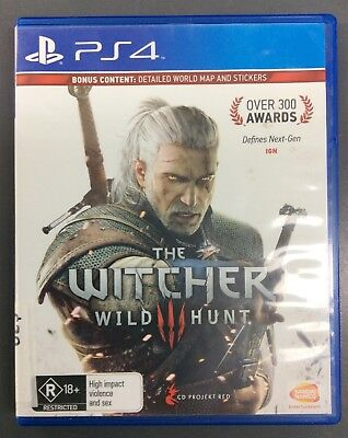 The Witcher Wild Hunt Playstation 4 PS4 Game