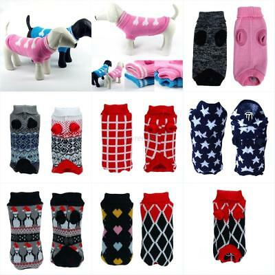 Pet Dog Sweater Warm Small Medium Large Dogs Puppy Knit Clothes Coat Apparel US