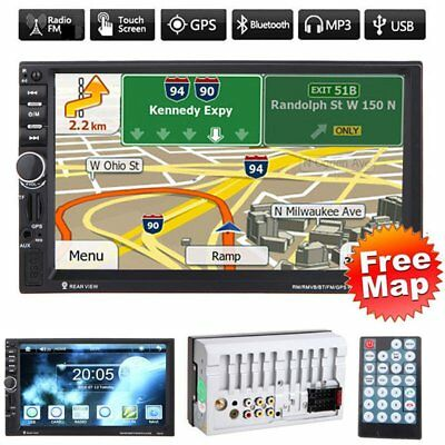 Car Audio 7020G Stereo MP5 Player with Rearview Camera 7 inch Touch RE