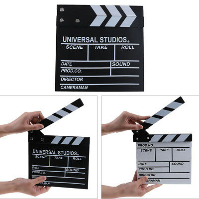Director video acrylic clapboard dry erase tv film movie clapper board slate new