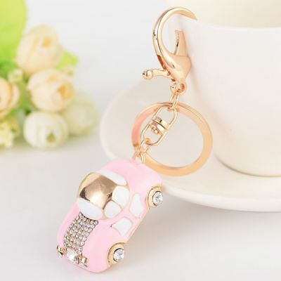 Cute Car Rhinestone Key Chain Crystal Bag Handbag Key Ring Car Key Pendant Gift