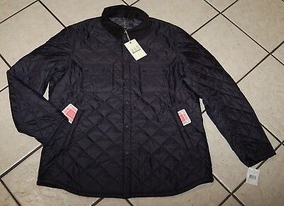 Barbour Men's Akenside Quilted Jacket, MQU0056NY91, Navy, Size XXL