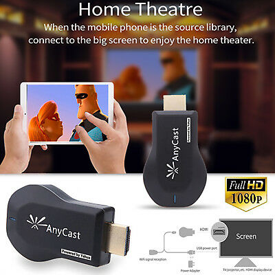 AnyCast WiFi Display Dongle Empfänger 1080P HDMI TV DLNA Airplay Miracast M9-2