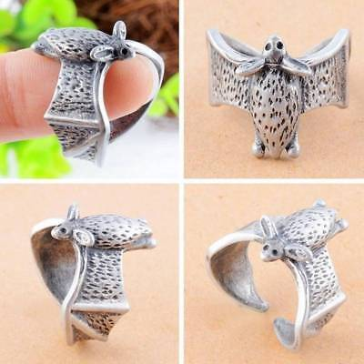 Punk Style Antique Bat Design Finger Ring Alloy Animal Wedding Bands Rings Gifts