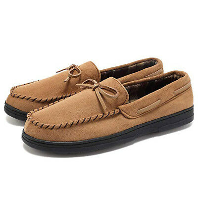77133039238 Men s Flats Shoes Micro Moccasin Indoor Outdoor House Rubber Slip On  Slippers US