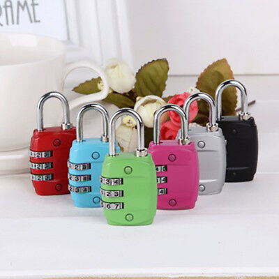 3-Dial Combination Padlock Case Luggage Travel Suitcase Resettable Lock