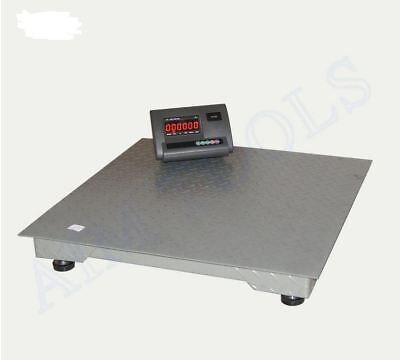 833382A 3Ton Digital Platform Trolley Pallet Truck Steel Weighing Scale RS232