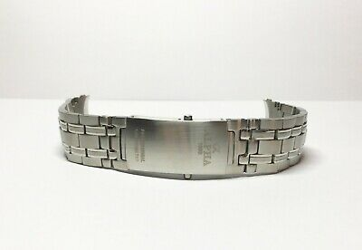 20mm heavy duty stainless steel band bracelet for a watch Alpha logo
