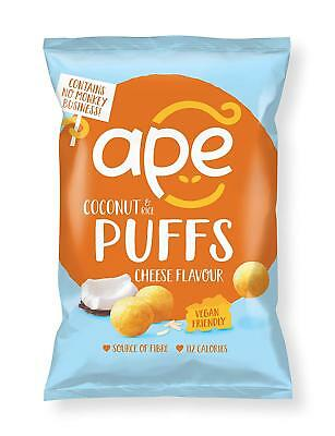 Ape Snacks Coconut & Rice Puffs Cheese Flavour 24g (Pack of 24)