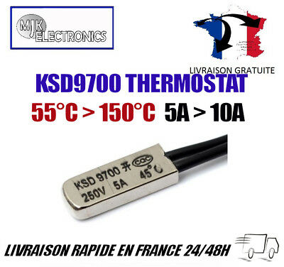 Thermal Protectors KSD9700 Open and Closed 40 to 150 Degrees Temperature Switch
