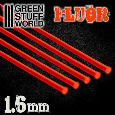 Tiges Acryliques ROND 1,6 mm Fluor Rouge - Tige Volante Warhammer Miniatures