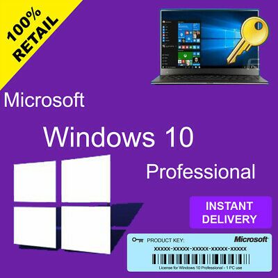 WINDOWS 10 Pro PROFESSIONAL PRODUCT CODE 32 / 64BIT GENUINE LICENSE KEY