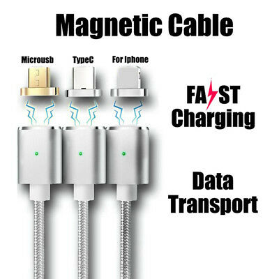 Magnetic Fast Charging Phone Cable for Iphone Samsung Typec 3in1 Charger EV