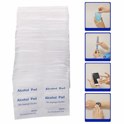100pcs/box Alcohol Swabs Pads Wipes Antiseptic Cleanser Cleaning SterilizationUI
