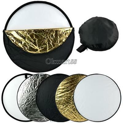 "Photography 5 in1 Light Collapsible Portable Photo Reflector 24"" Diffuser OK8"