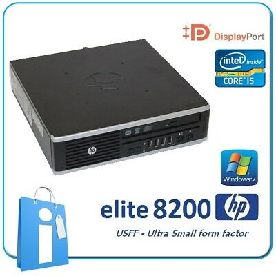 PC usdt HP Elite 8200 USFF Core i5-2400S 4GB 320Gb DVDRW Windows 7 Pro Ordenador