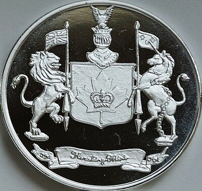 """1 Oz Hw Minting Heraldry Mint """"canada"""" Fine .999 Silver Coin Silver Round"""