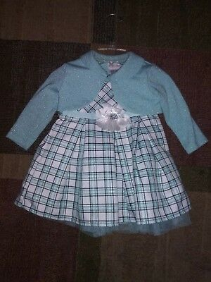 YOUNGLAND Baby Girl 12M Colorblock Gauze Dress NWT $24